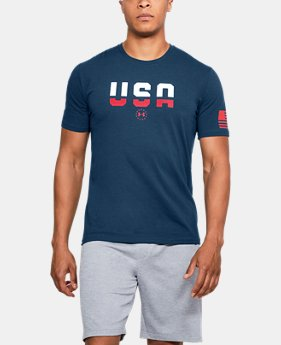 Men's UA Freedom USA T-Shirt  3  Colors $25