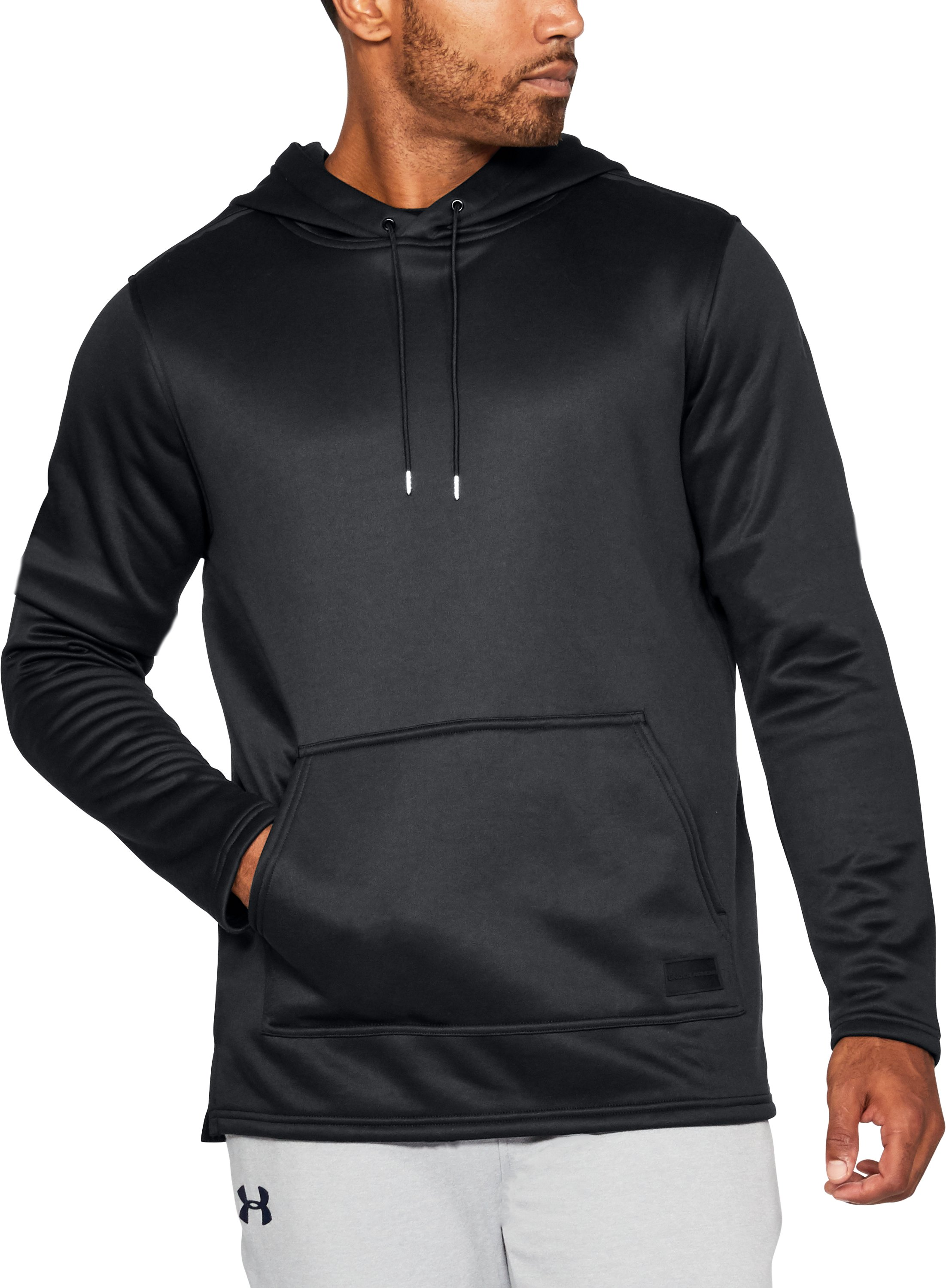 Men's UA Pursuit Stealth Hoodie, Black , undefined