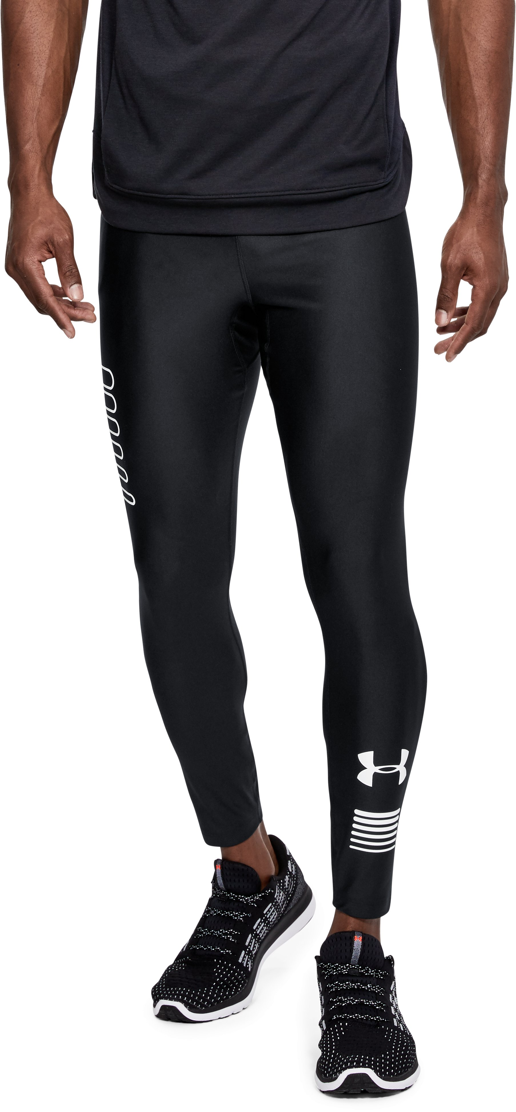 Men's UA Graphic Tights, Black , undefined
