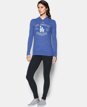 Women's Los Angeles Dodgers UA Charged Cotton® Tri-Blend Hoodie LIMITED TIME: FREE U.S. SHIPPING 1 Color $44.99
