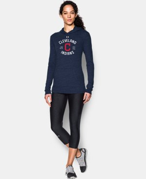 New Arrival Women's Cleveland Indians UA Charged Cotton® Tri-Blend Hoodie  1 Color $44.99