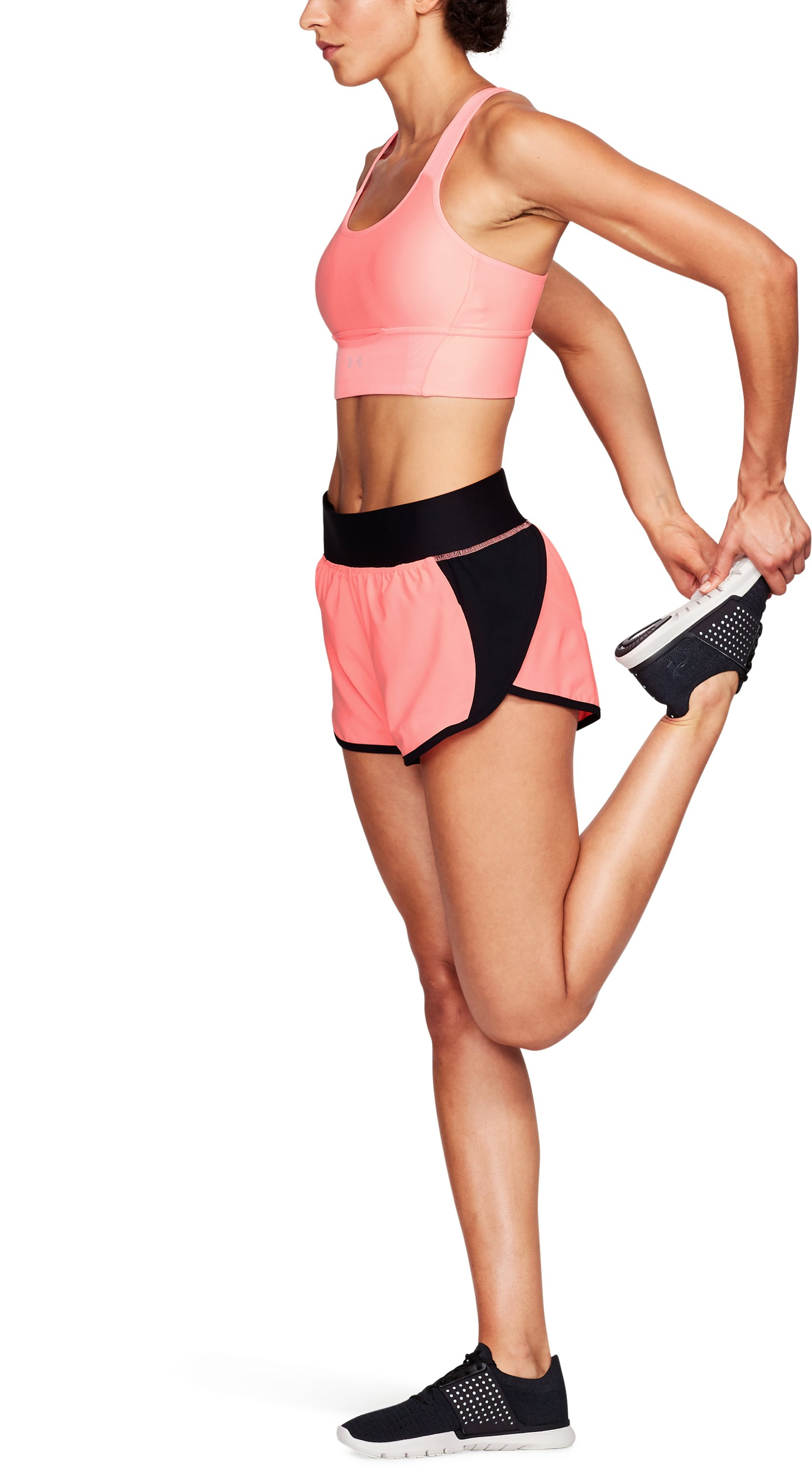 Women's UA Launch Tulip Speedpocket Shorts, CAPE CORAL, undefined