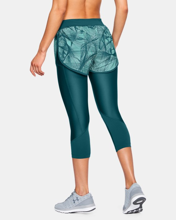 Women's UA Armour Fly-Fast Printed Shapri, Green, pdpMainDesktop image number 2