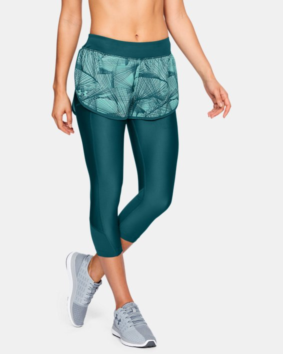 Women's UA Armour Fly-Fast Printed Shapri, Green, pdpMainDesktop image number 0
