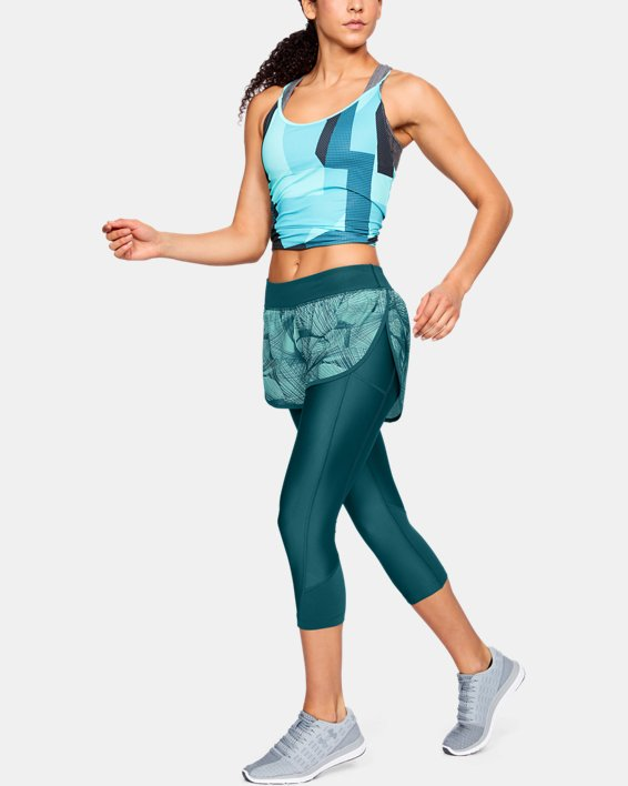 Women's UA Armour Fly-Fast Printed Shapri, Green, pdpMainDesktop image number 1