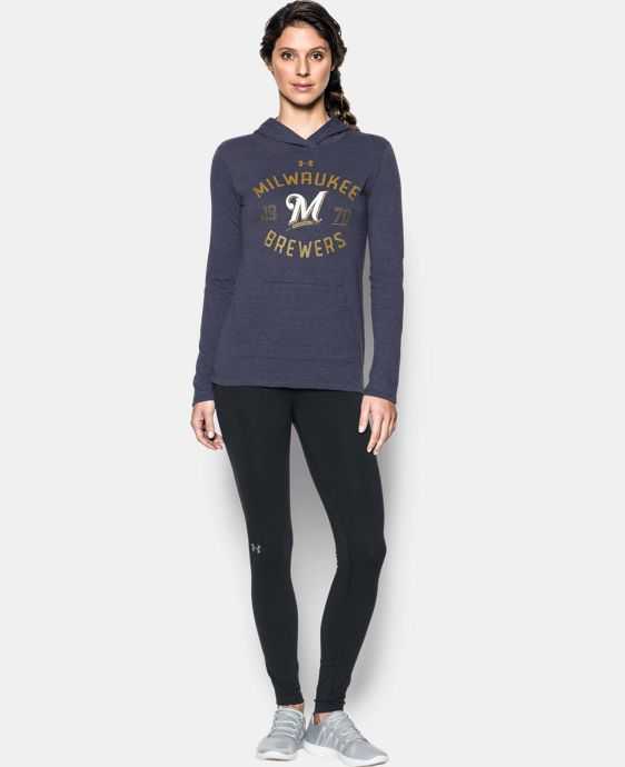 Women's Milwaukee Brewers UA Charged Cotton® Tri-Blend Hoodie  1 Color $44.99