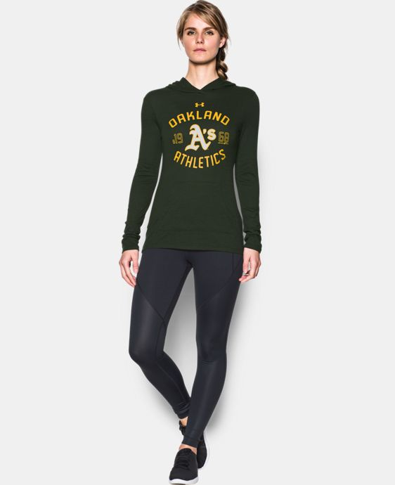 Women's Oakland Athletics UA Charged Cotton® Tri-Blend Hoodie  1 Color $44.99
