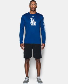 New Arrival Men's Los Angeles Dodgers UA Tech™ Long Sleeve T-Shirt  1 Color $37.99