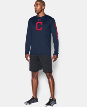 New Arrival Men's Cleveland Indians UA Tech™ Long Sleeve T-Shirt   $37.99