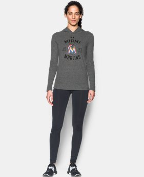 Women's Miami Marlins UA Charged Cotton® Tri-Blend Hoodie  1  Color Available $33.74