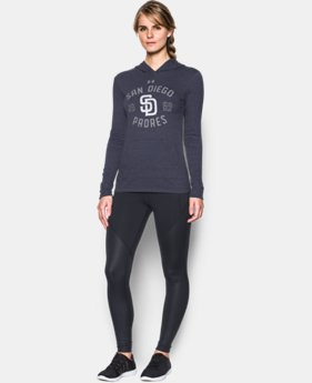 Women's San Diego Padres UA Charged Cotton® Tri-Blend Hoodie  1  Color Available $44.99