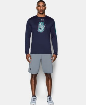 New Arrival Men's Seattle Mariners UA Tech™ Long Sleeve T-Shirt  1 Color $37.99