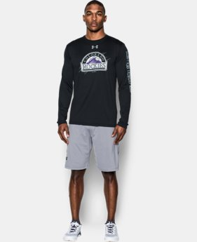 New Arrival Men's Colorado Rockies UA Tech™ Long Sleeve T-Shirt  1 Color $37.99