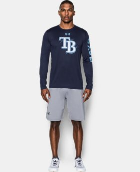 New Arrival Men's Tampa Bay Rays UA Tech™ Long Sleeve T-Shirt  1 Color $37.99