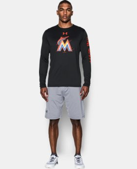 New Arrival Men's Miami Marlins UA Tech™ Long Sleeve T-Shirt  1 Color $37.99