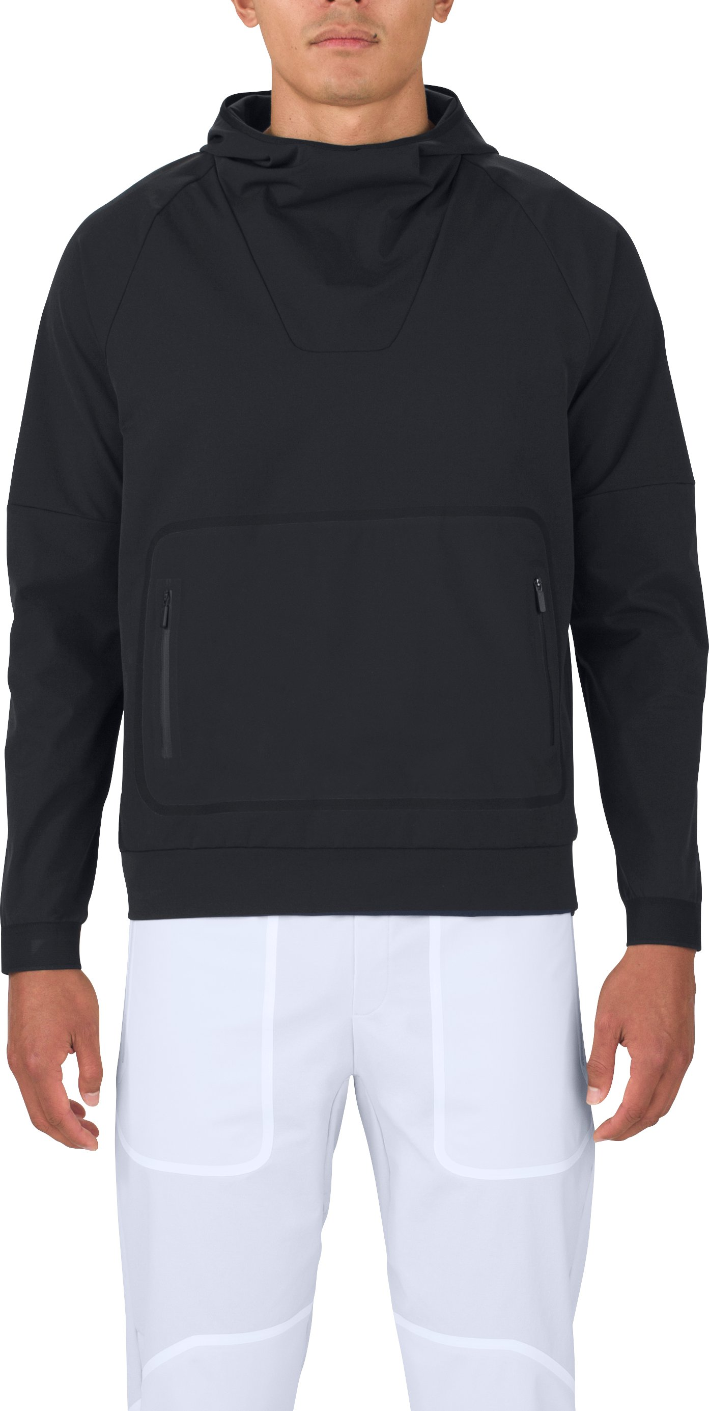 Men's UAS Pivot Stretch Crepe Hoodie, Black ,