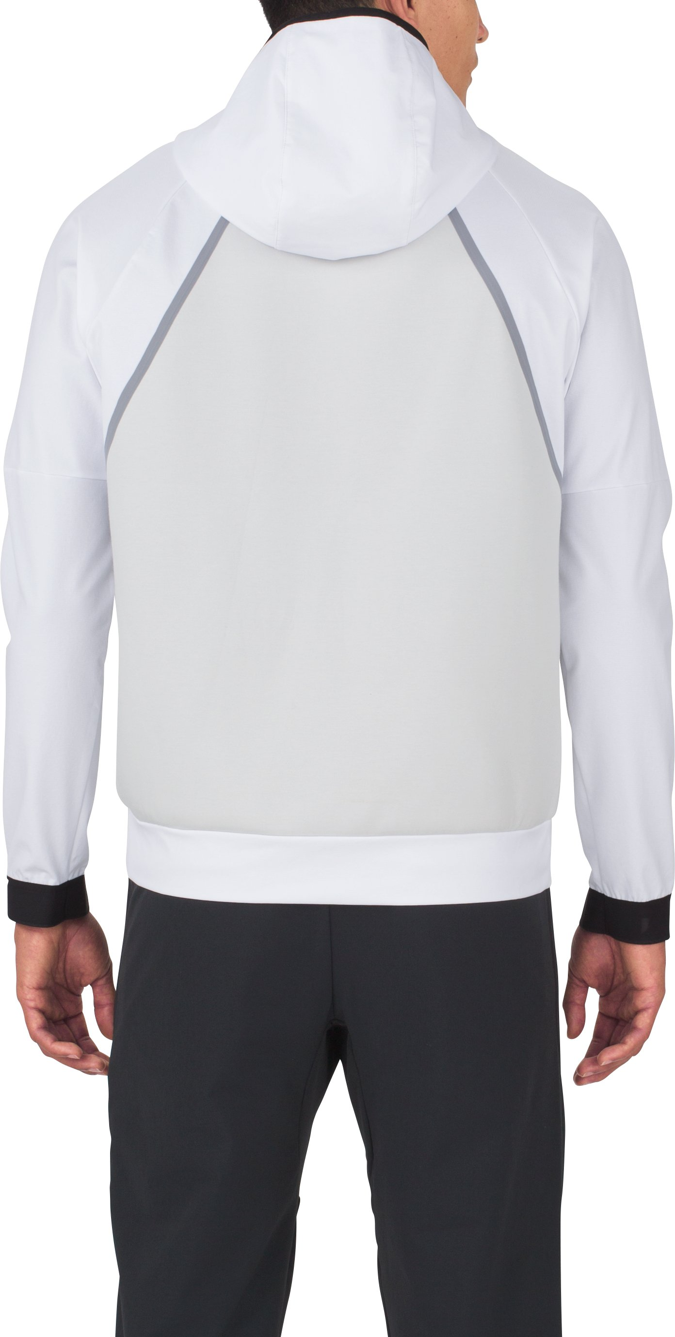 Men's UAS Pivot Stretch Crepe Hoodie, White, undefined