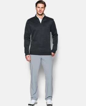 Men's UA Storm SweaterFleece Herringbone ¼ Zip  3 Colors $56.24