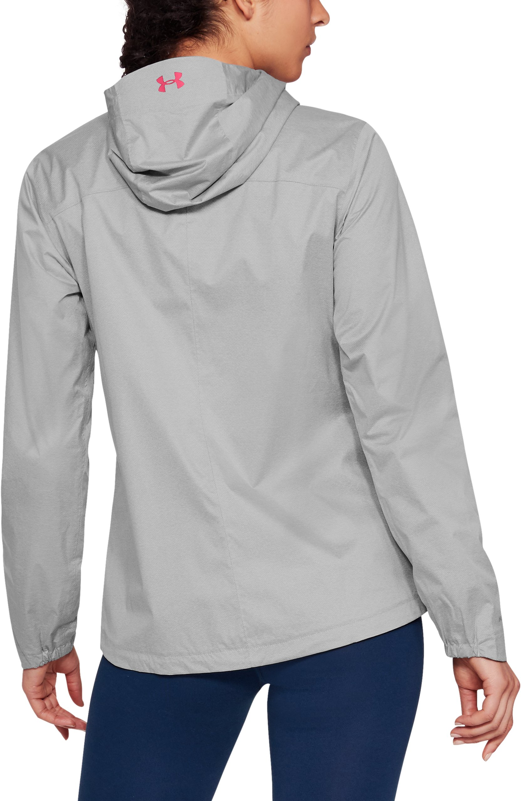 Women's UA Overlook Jacket, True Gray Heather, undefined