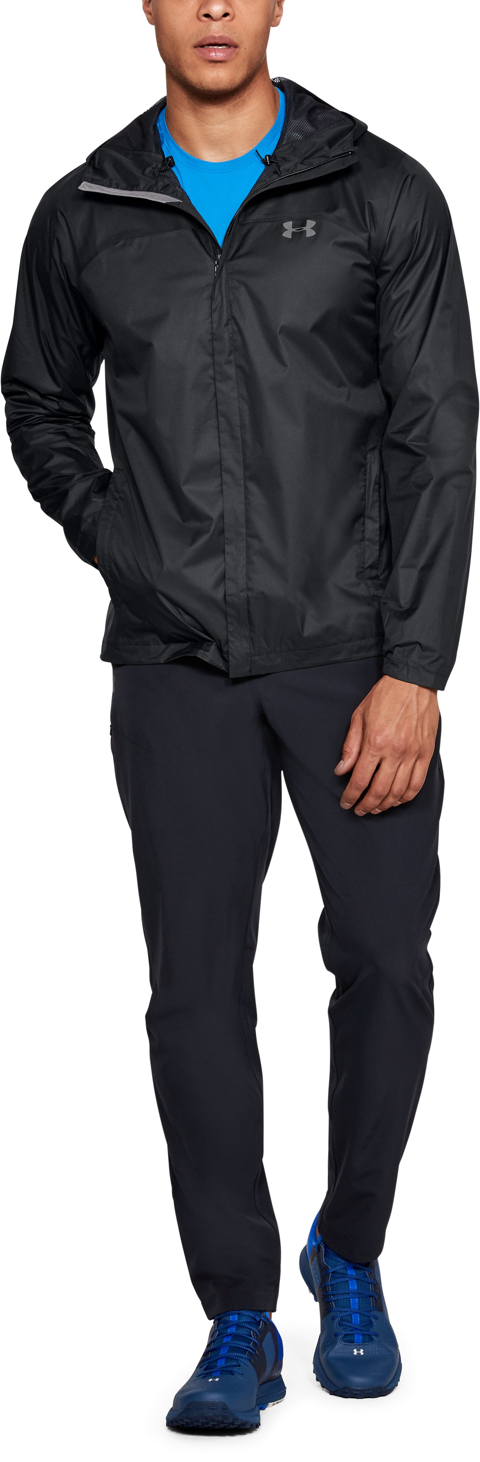 Men's UA Overlook Jacket, Black ,