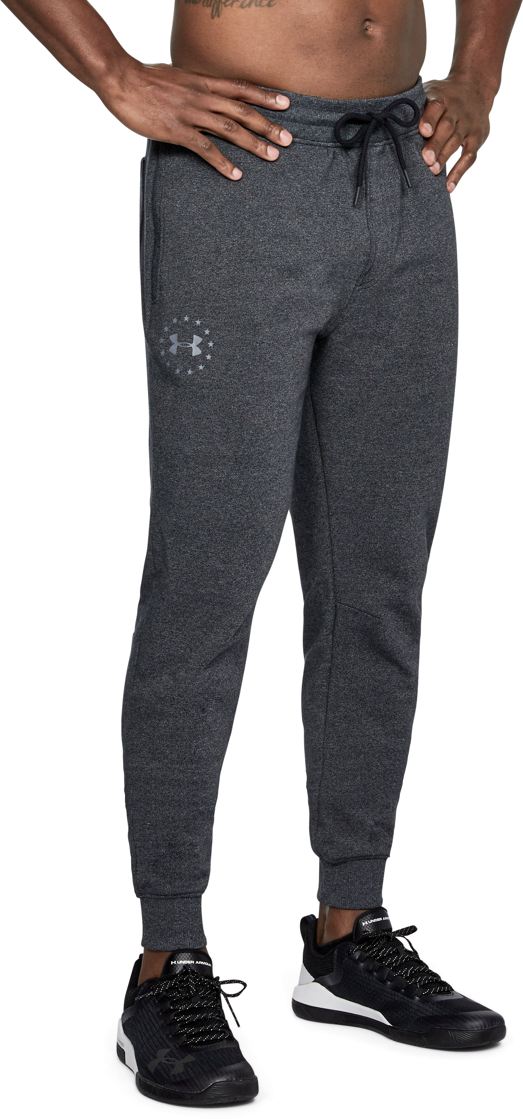 Men's UA Freedom Microthread Fleece Joggers, Black , undefined