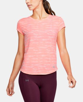 Women's UA Threadborne™ Run Mesh Printed Short Sleeve  1 Color $39.99