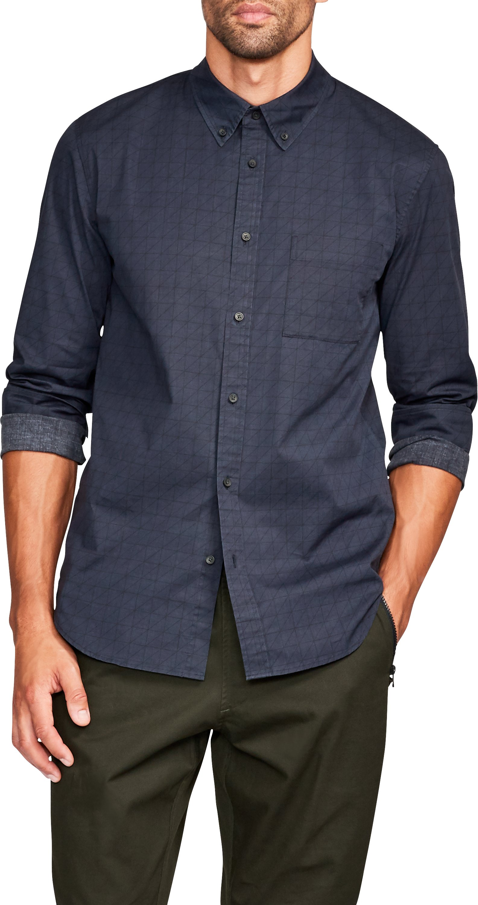 Men's UAS Delta Poplin Shirt, Navy
