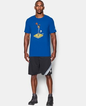 New Arrival Men's UA 8-Bit Steph Curry T-Shirt  1 Color $34.99