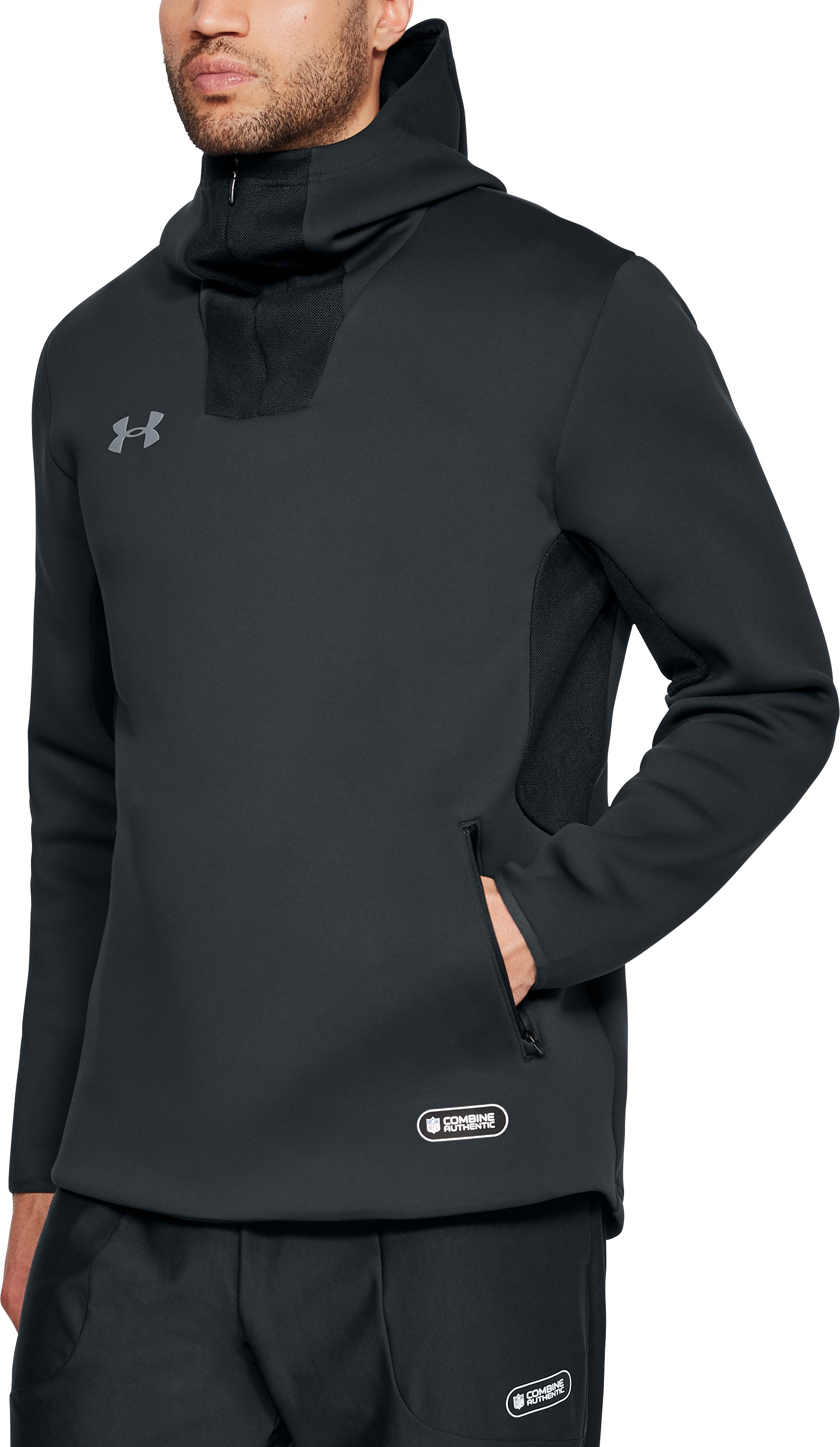 Men's NFL Combine Authentic Event Hoodie, ANTHRACITE,