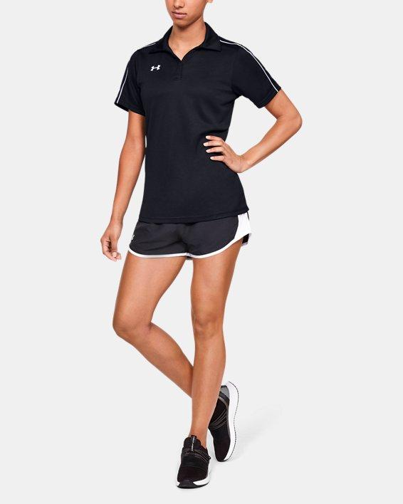 Women's UA Tech™ Corp Polo, Black, pdpMainDesktop image number 1