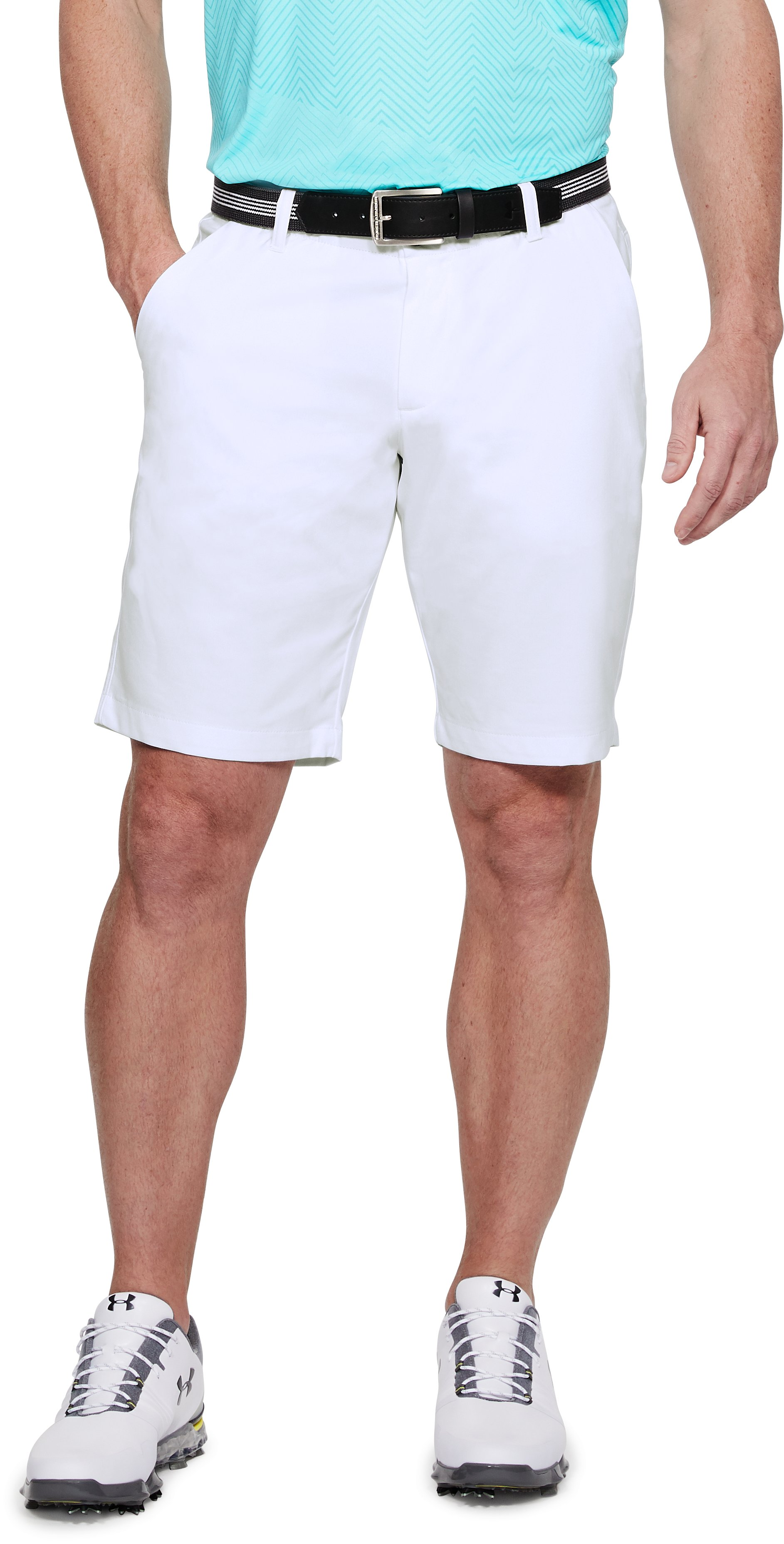 Men's UA Showdown Tapered Shorts, White