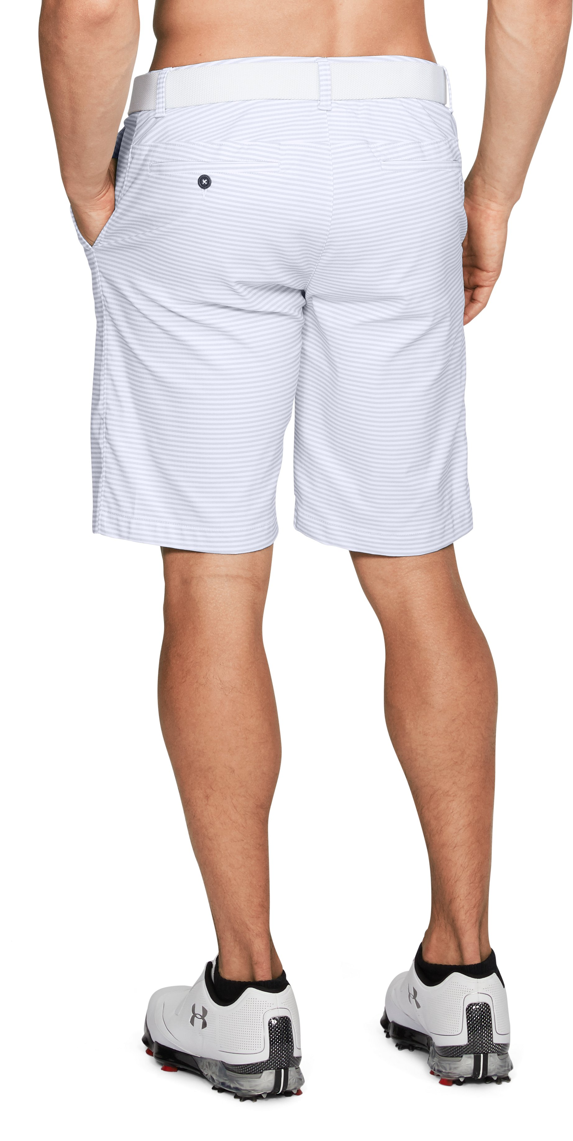 Men's UA Showdown Shorts Pattern, White,