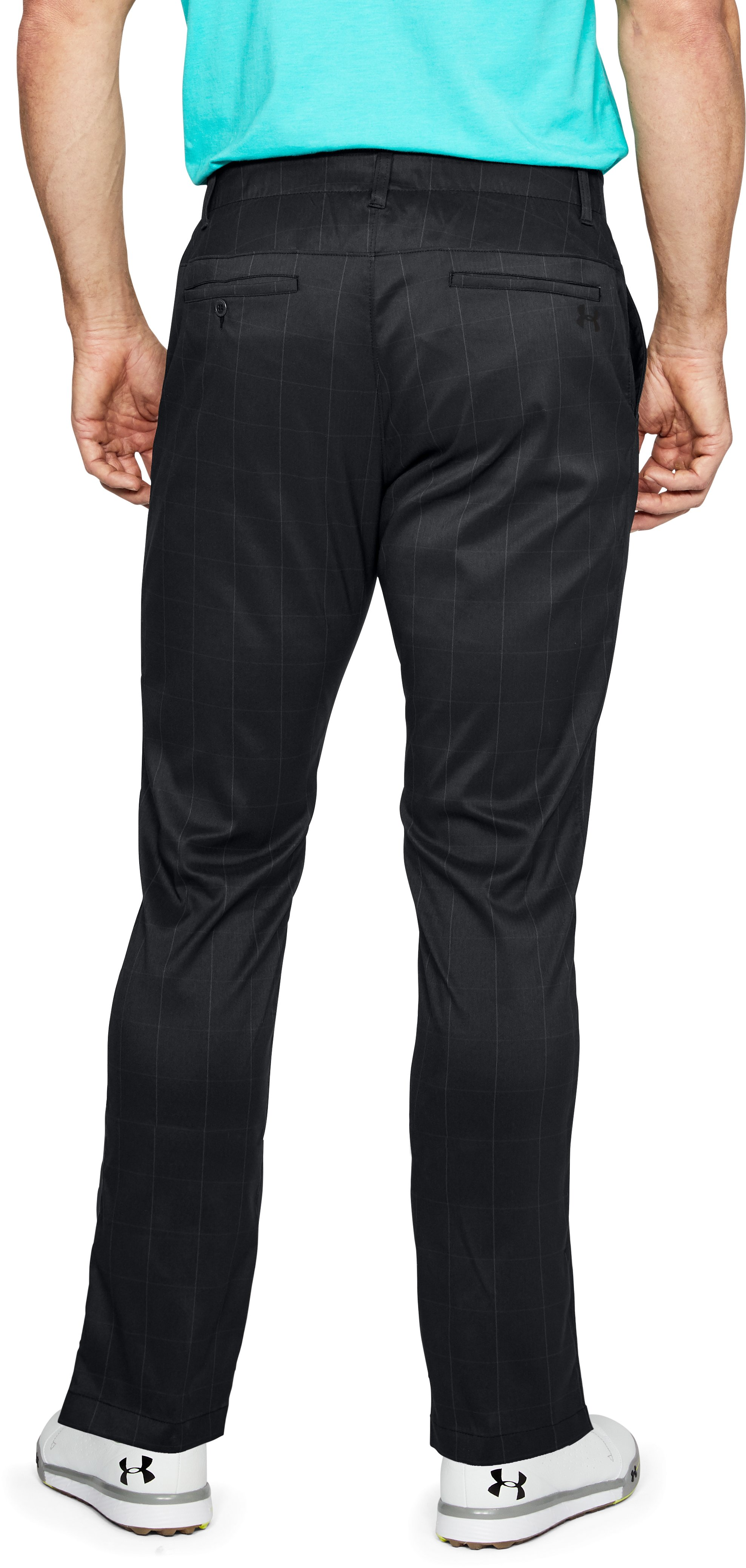 Men's UA Showdown Pattern Pants Taper, Black ,