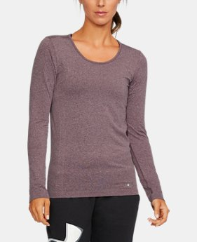 New Arrival  Women's UA Threadborne Seamless Heathered Long Sleeve Shirt  2 Colors $59.99