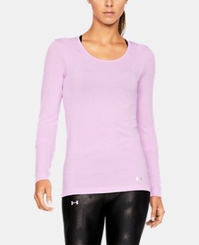 New Arrival Women's UA Threadborne Seamless Heathered Long Sleeve Shirt  1 Color $49.99