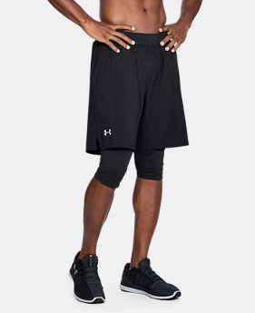 Men's UA Launch 2-in1 Long Shorts  1  Color Available $50