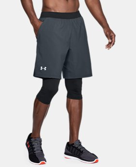 Men's UA Launch 2-in1 Long Shorts  2  Colors Available $50