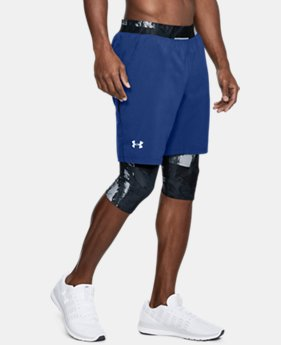 Men's UA Launch 2-in1 Long Shorts  1  Color Available $48.75
