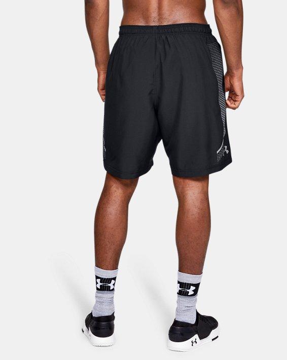 Men's UA Woven Graphic Shorts, Black, pdpMainDesktop image number 2