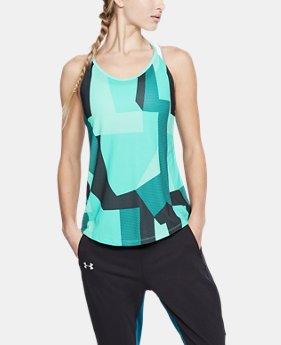 New Arrival Women's UA Speed Stride Printed Tank  2  Colors Available $35