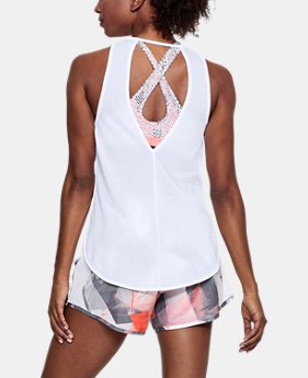 Women's UA Streaker Open Back Tank  1  Color $30