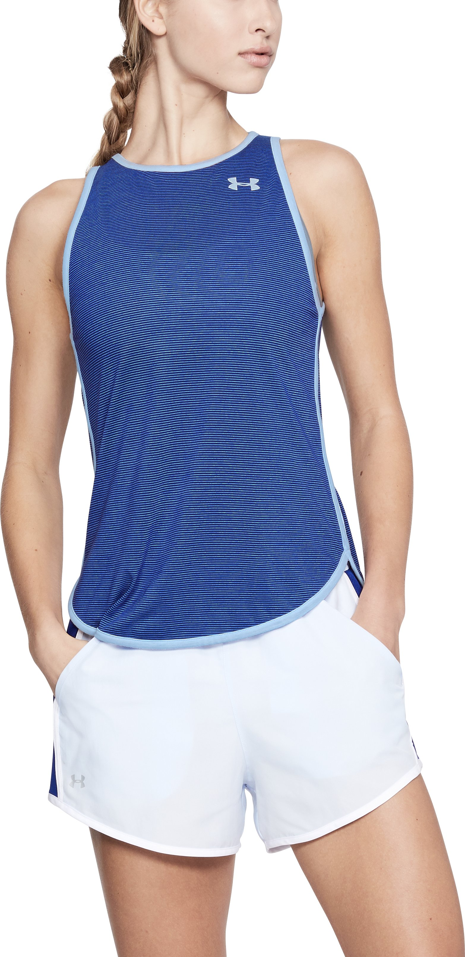 Women's UA Streaker Open Back Tank, FORMATION BLUE