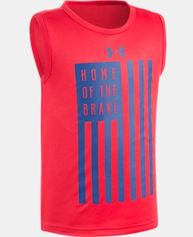 Boys' Pre-School UA Home Of The Brave Tank   $13.99