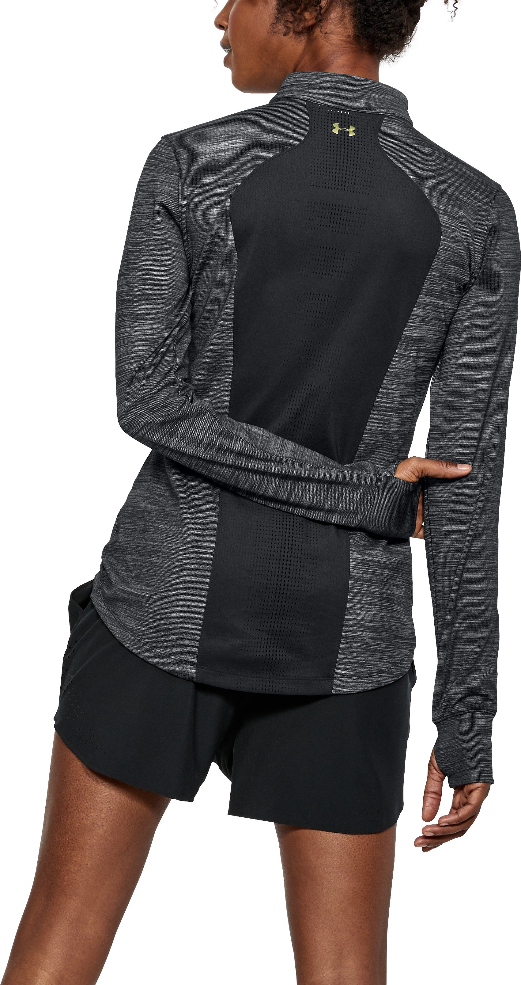 Women's UA Perpetual ½ Zip, Black , undefined