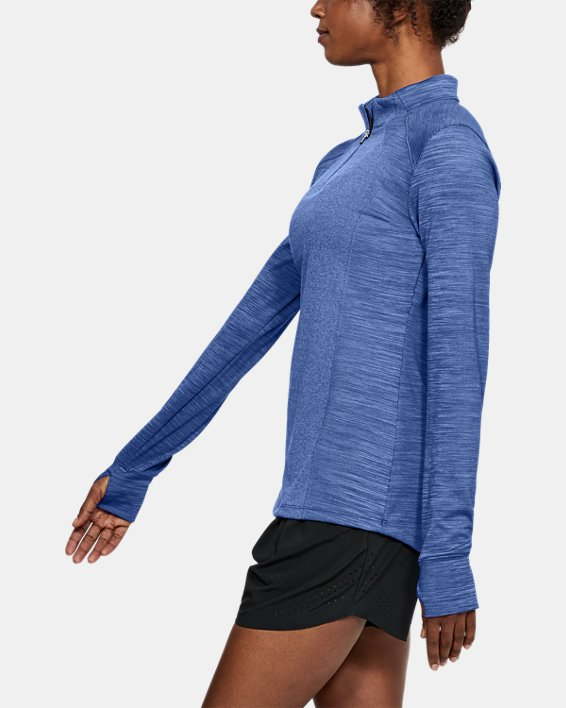 Women's UA Perpetual ½ Zip, Blue, pdpMainDesktop image number 3