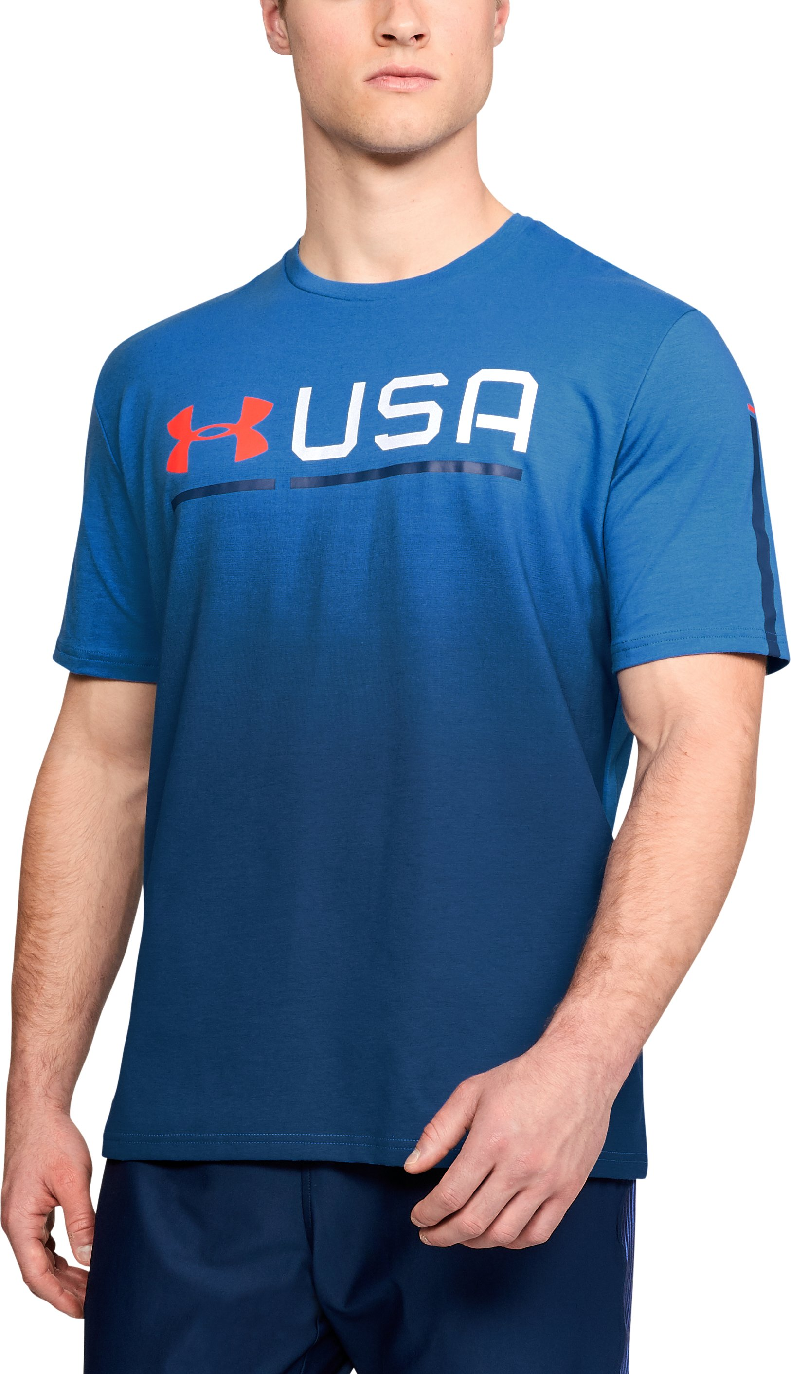 Men's UA USA Graphic T-Shirt, Mediterranean