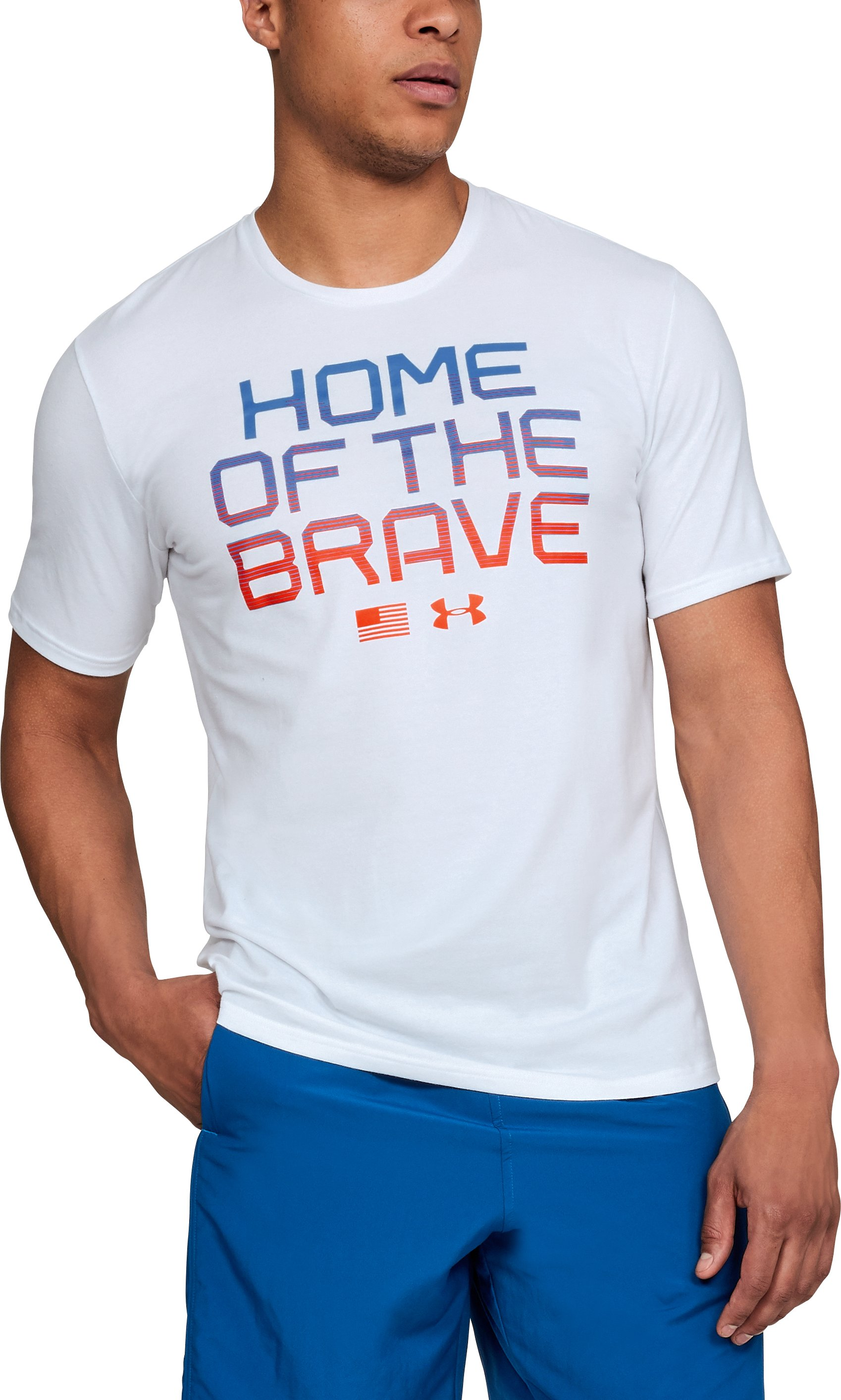 Men's UA USA Home of The Brave T-Shirt, White, undefined