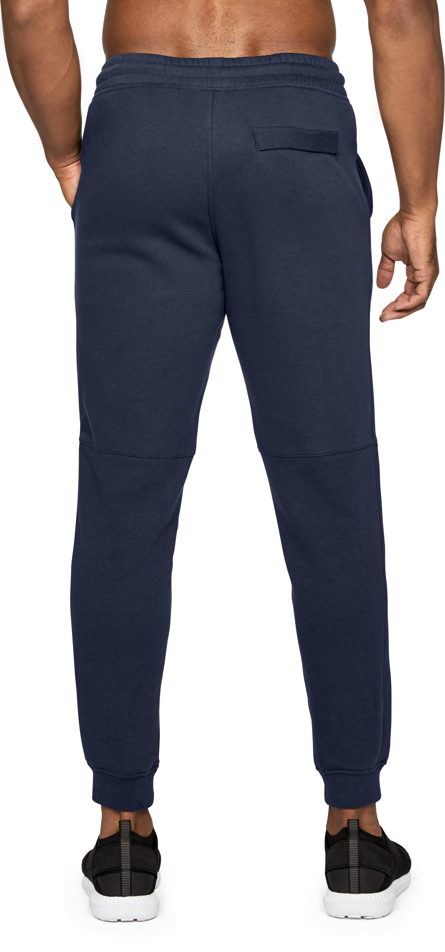 Men's UA Rival Fleece Fitted Joggers, Midnight Navy,