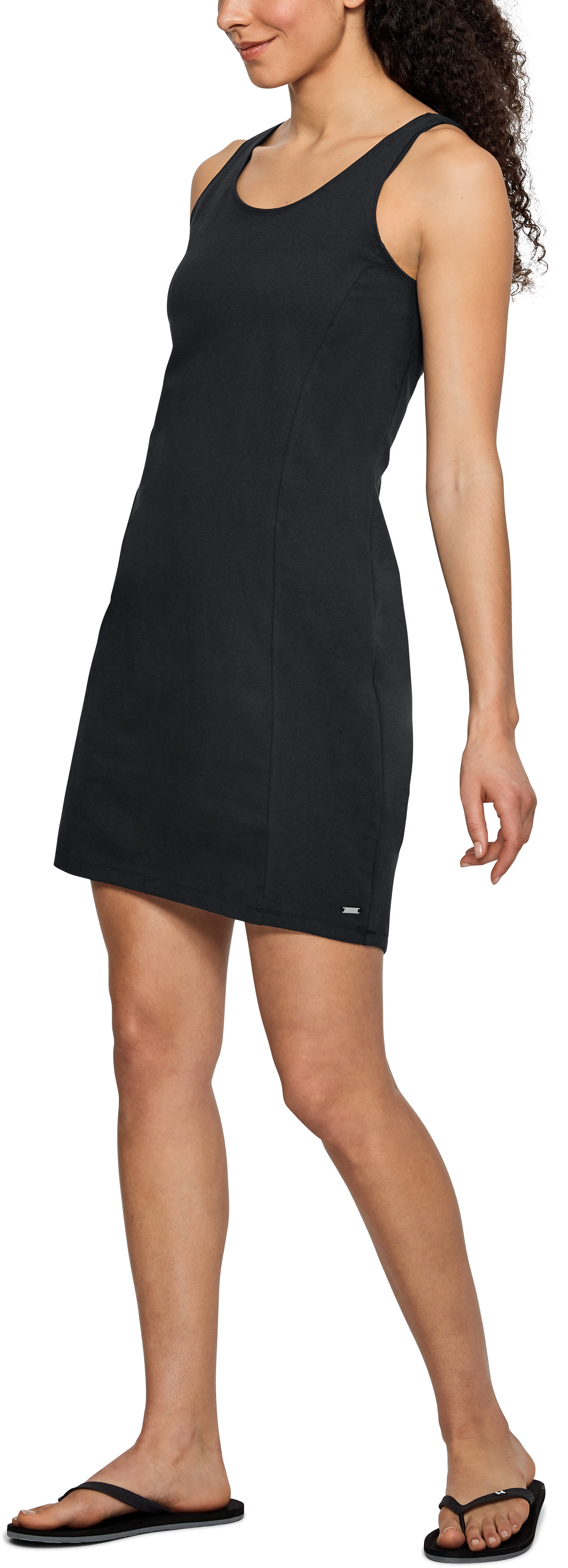 Women's UA Microthread Essential Dress, Black , undefined