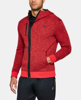 New Arrival Men's UA Baseline Full Zip Hoodie   $70